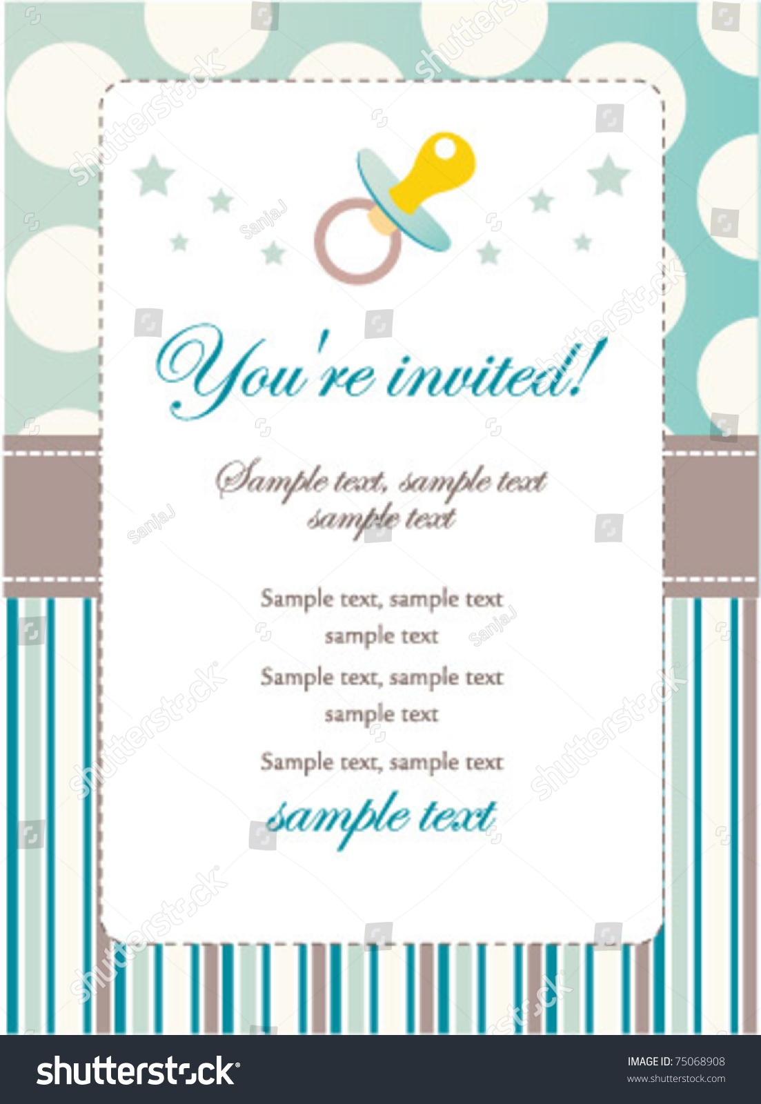 Baby boy birthday invitation stock vector 75068908 shutterstock baby boy birthday invitation stopboris Gallery