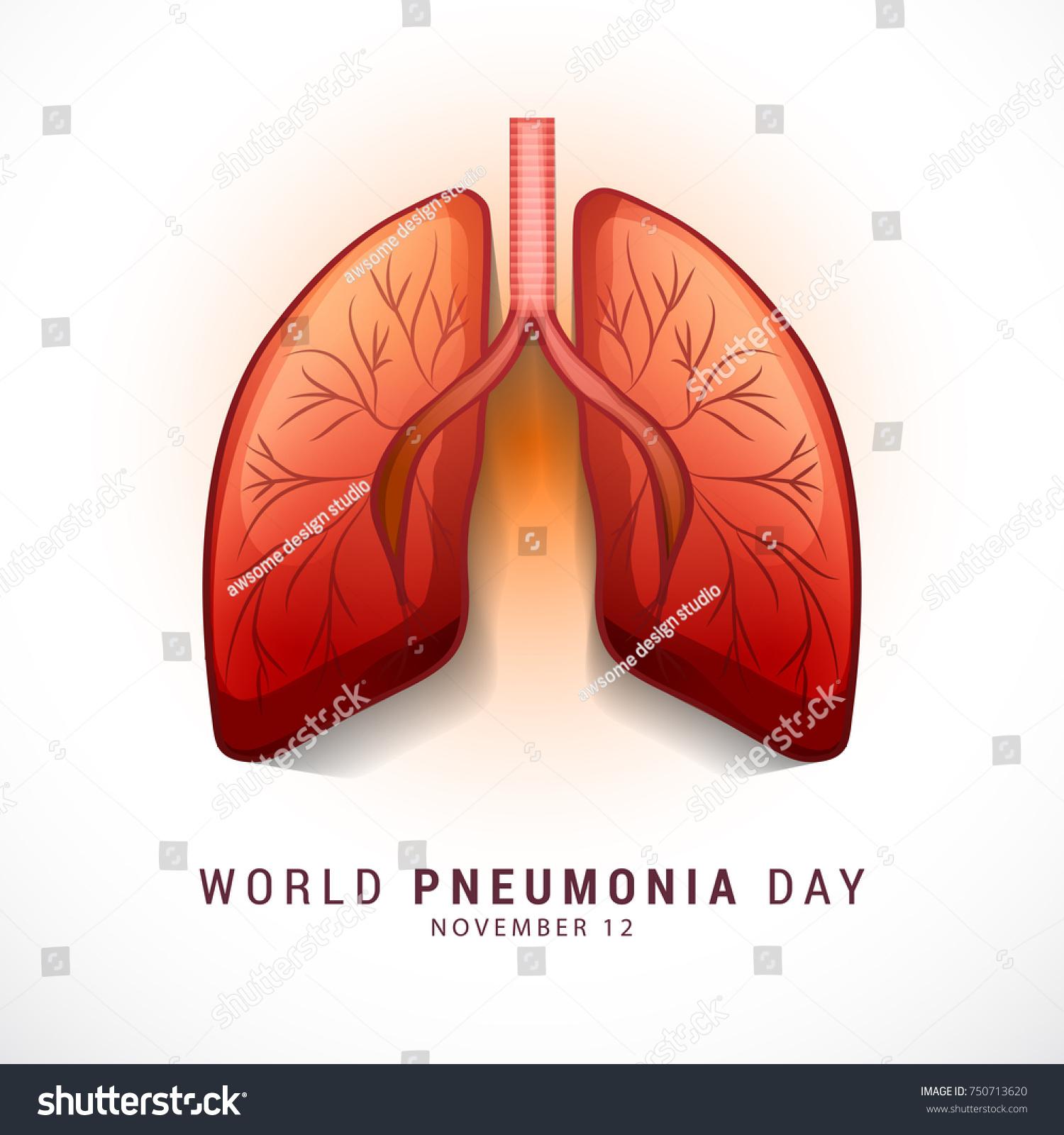 illustration poster banner world pneumonia day stock vector royalty