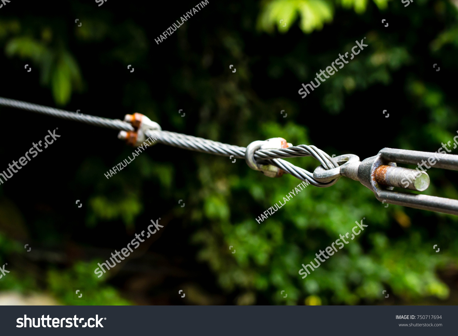 Close Heavy Duty Steel Wire Cable Stock Photo (Edit Now) 750717694 ...