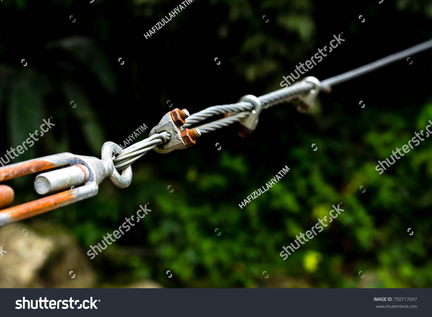 Close Heavy Duty Steel Wire Cable Stock Photo (Edit Now) 750717697 ...