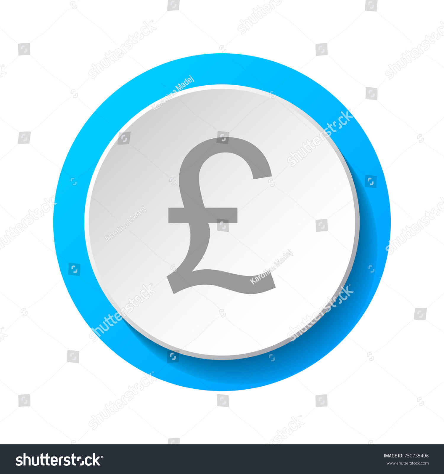 Symbol British Currency British Pound 3 D Stock Vector Royalty Free