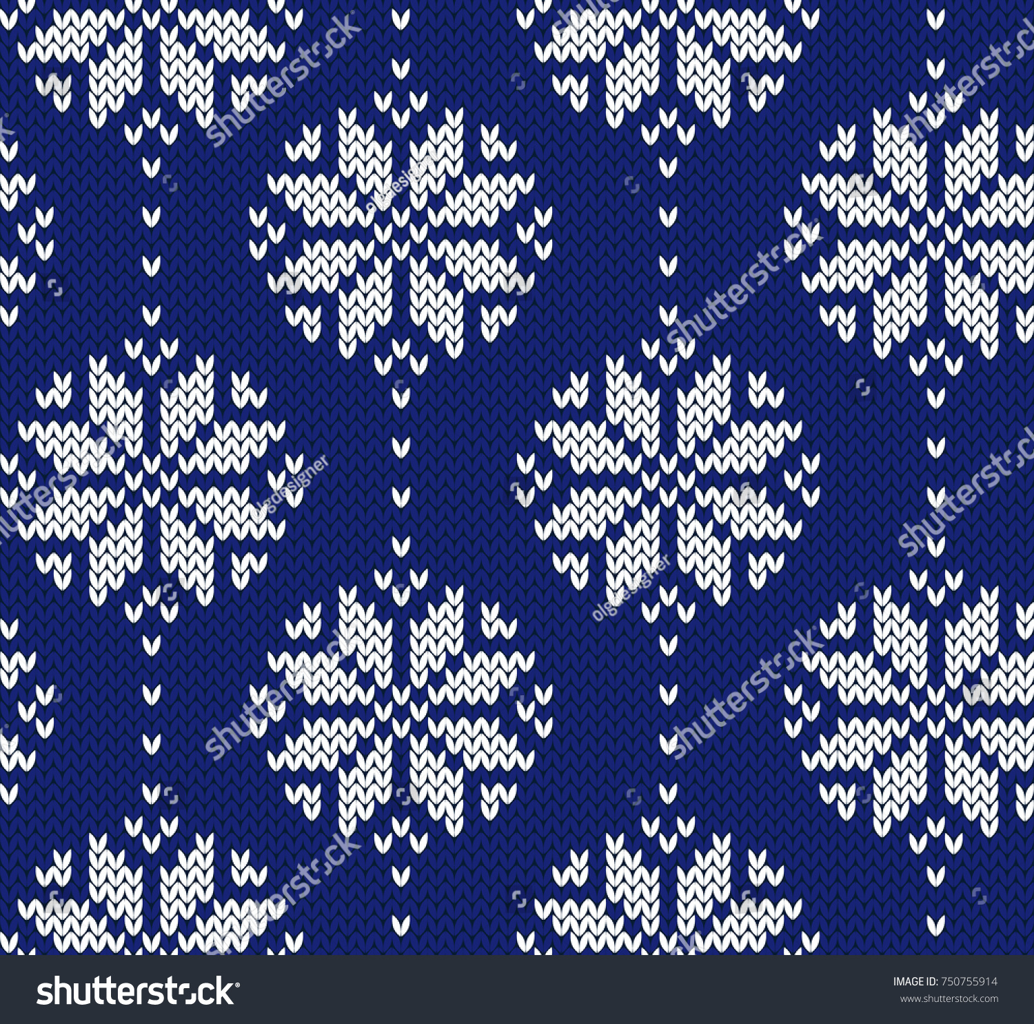 Winter Jacquard Knitted Seamless Pattern Christmas Stock Vector ...