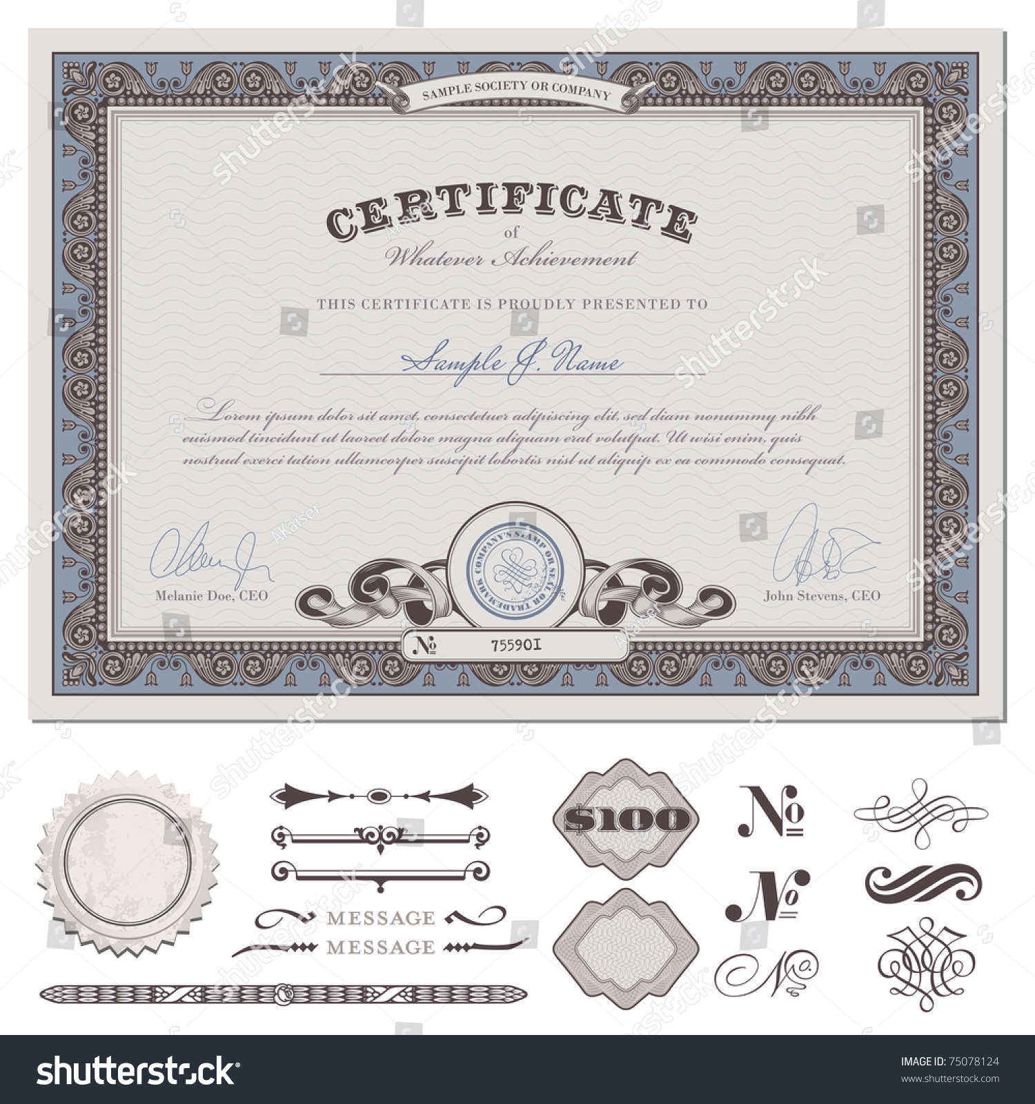 Certificate Coupon Template Detailed Border Additional – Coupon Format