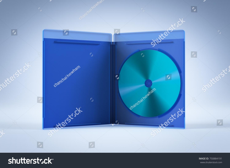 Blank Open Bluray Disk Box Case Stockillustration 750884191 ...