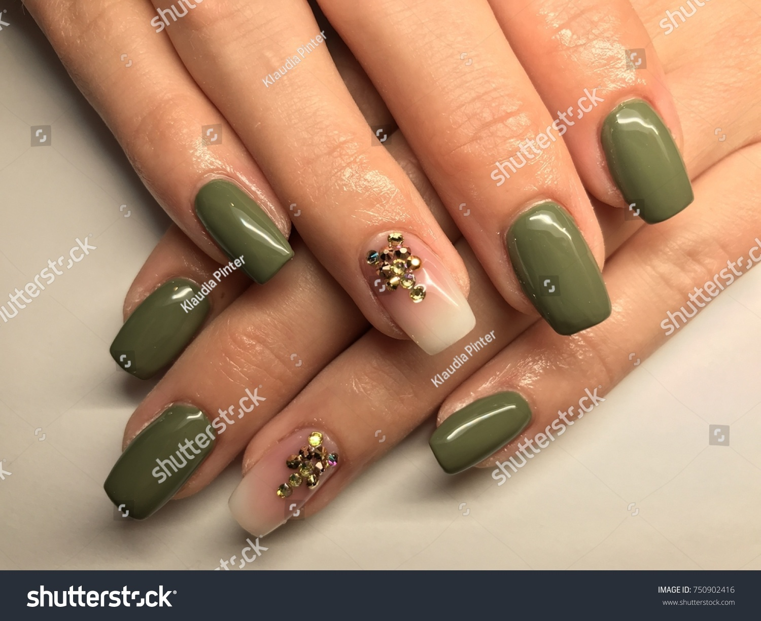 Nail Art Manicure Wallpaper Fashion Design Stock Photo Edit Now