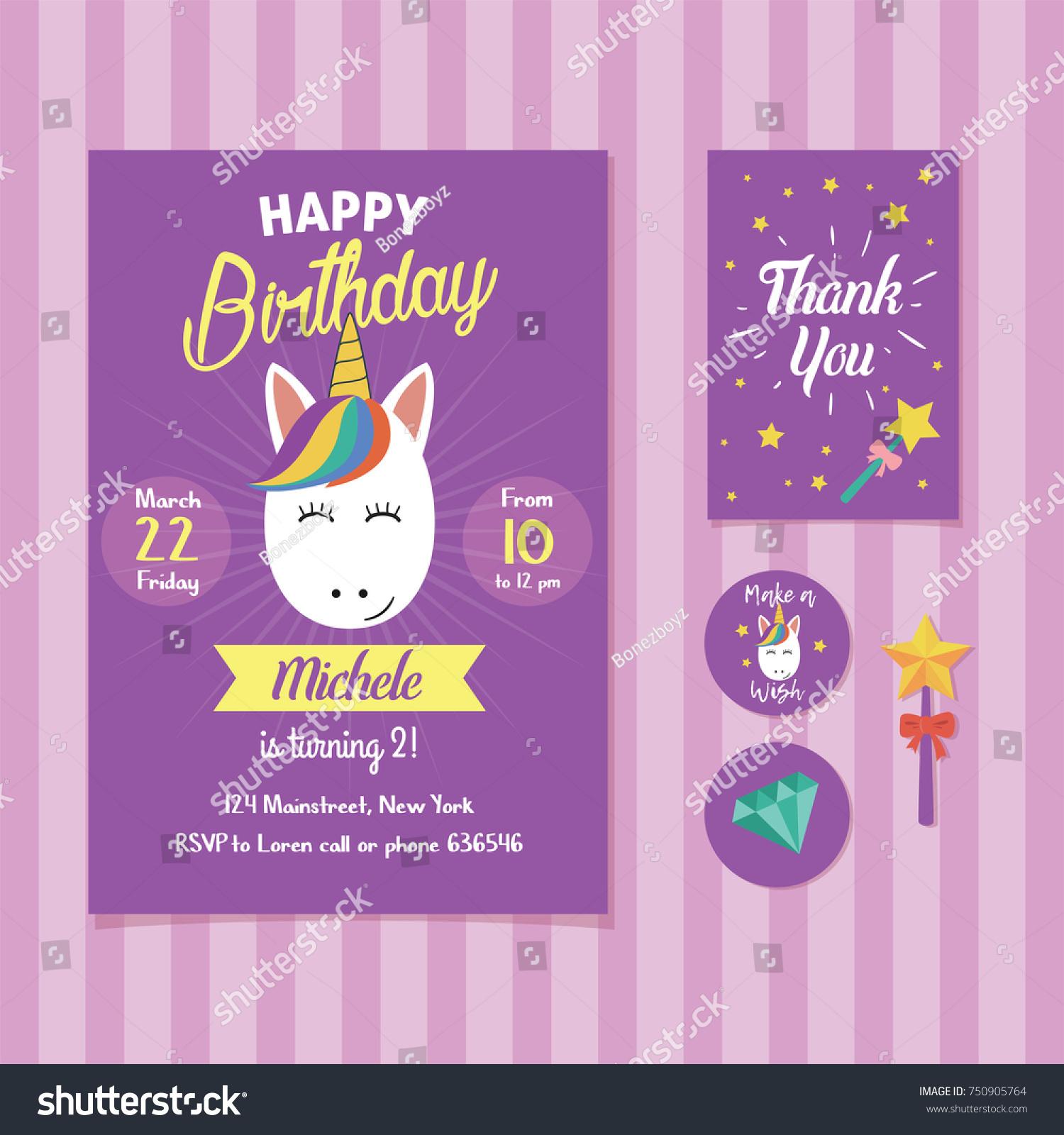 purple birthday invitation template