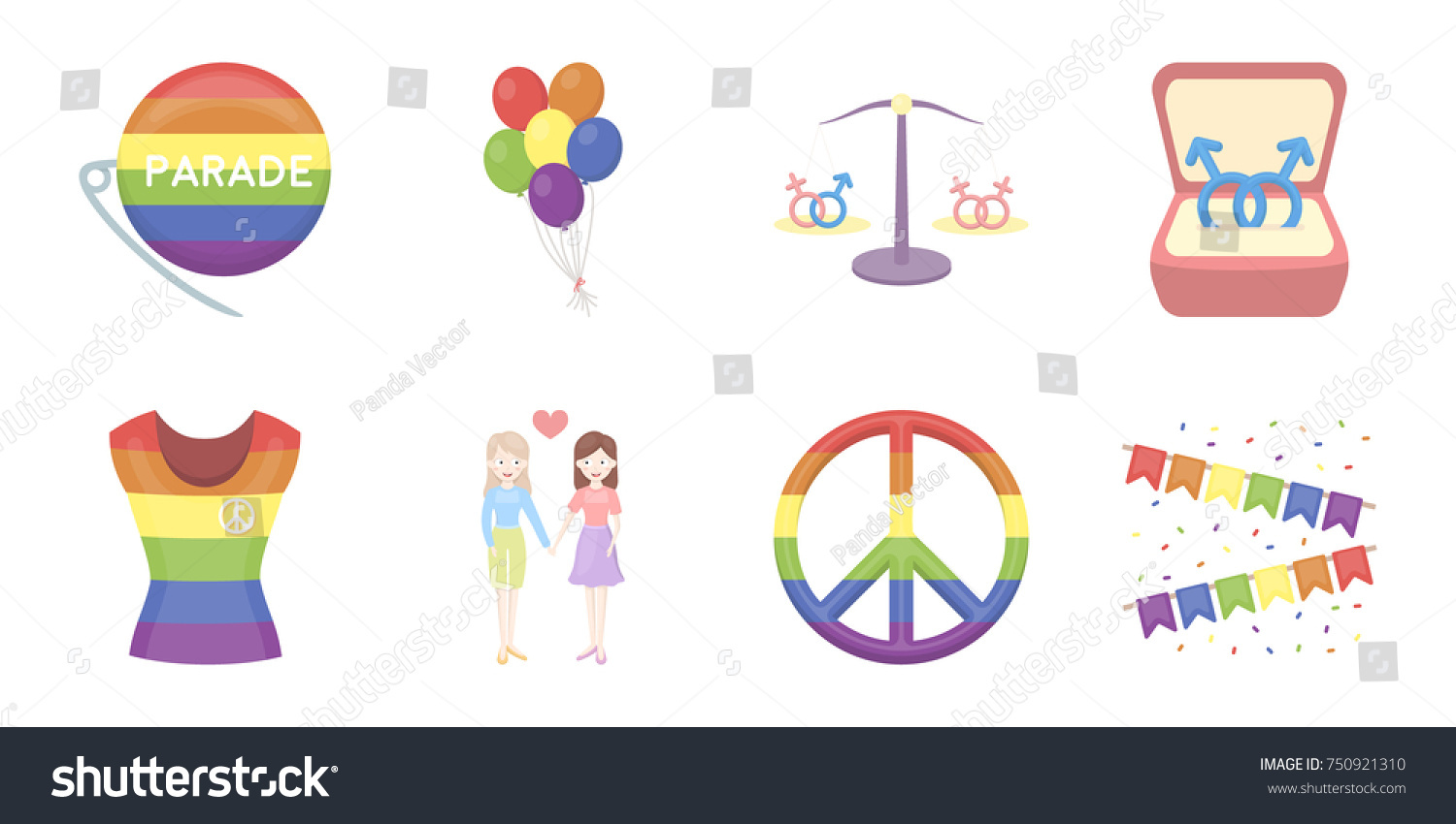 Gay lesbian icons set collection designsexual stock vector gay and lesbian icons in set collection for designxual minority and attributes vector symbol buycottarizona