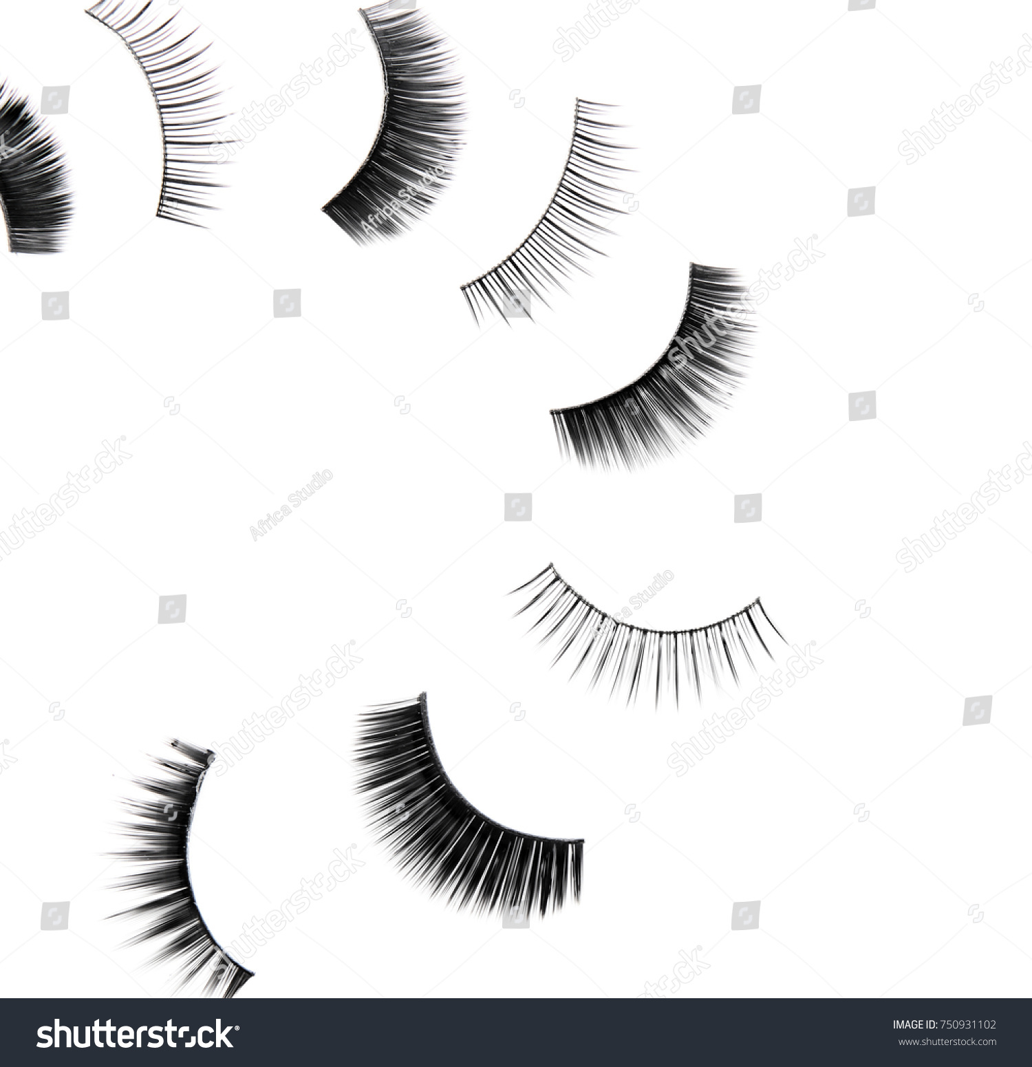 Composition Different Types False Eyelashes On Stock Photo Edit Now