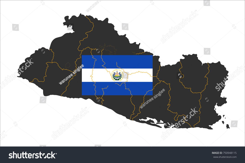 Simple Map Of El Salvador