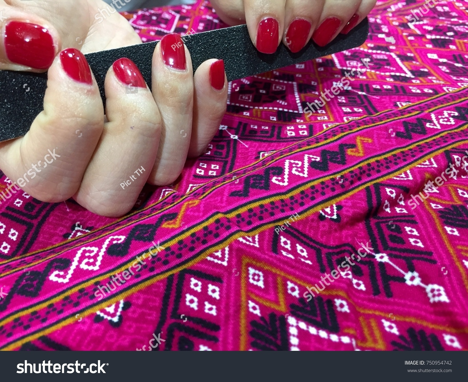 Nail Art Designs Red Nail Polish Stock Photo (Edit Now)- Shutterstock