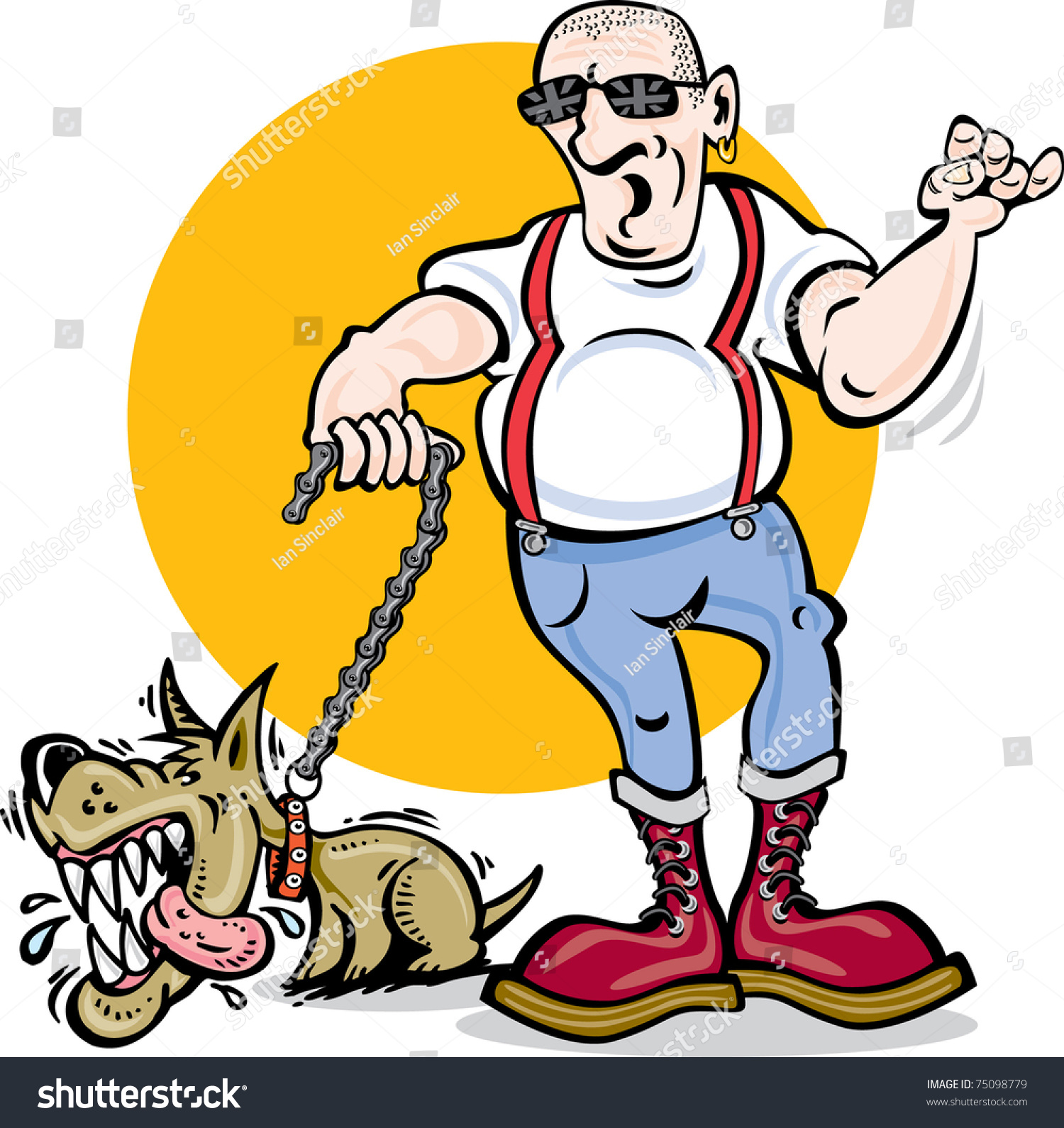 Cartoon dog stock photos images amp pictures shutterstock - Cartoon Vector Of Skinhead And Mad Dog Skinhead Dog