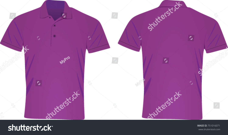 526f84a8e Purple Polo T Shirt Vector Illustration Stock Vector (Royalty Free ...