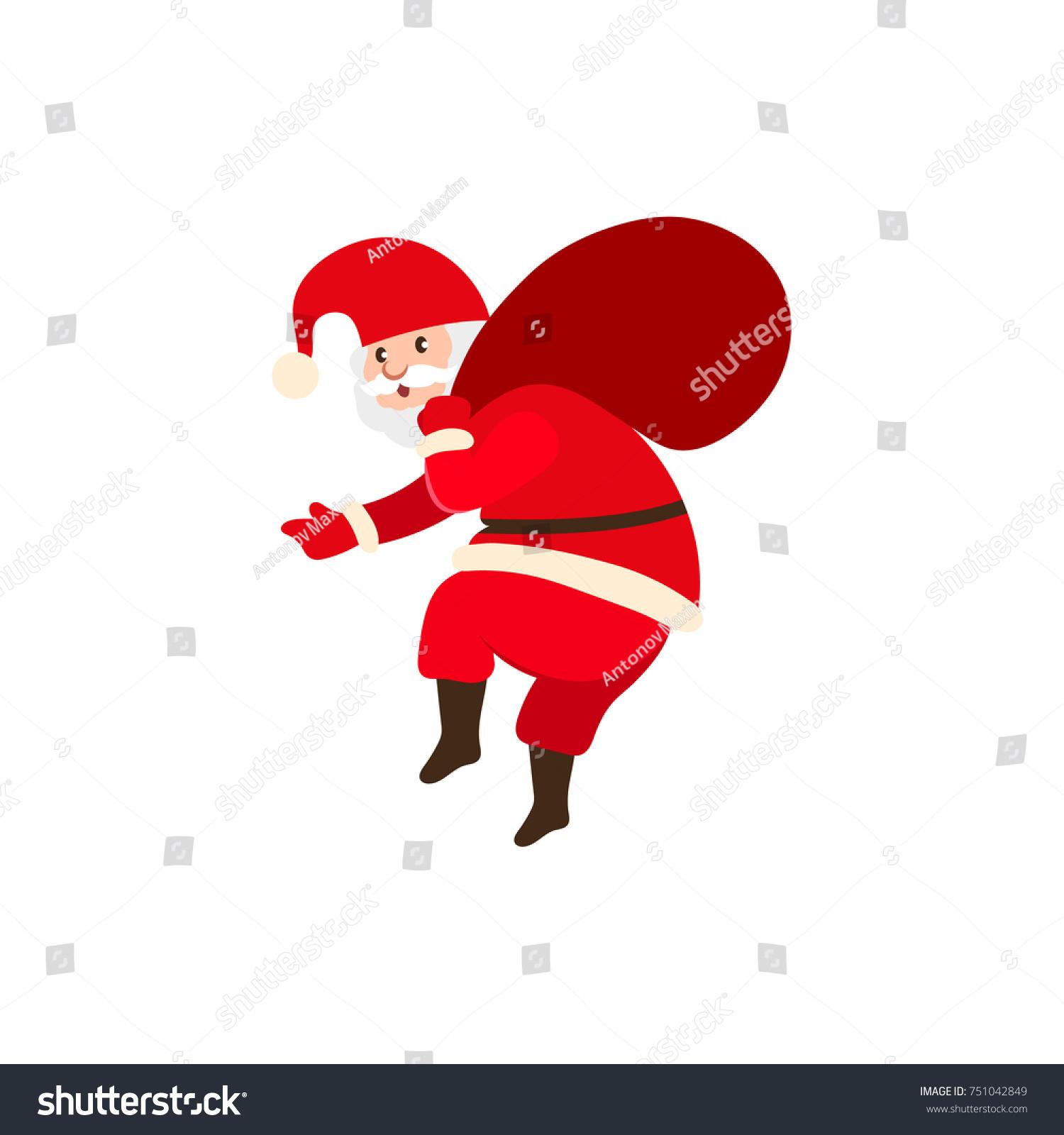 8e535b6ed6654 Naughty Santa Claus Carrying Big Bag Stock Vector (Royalty Free ...
