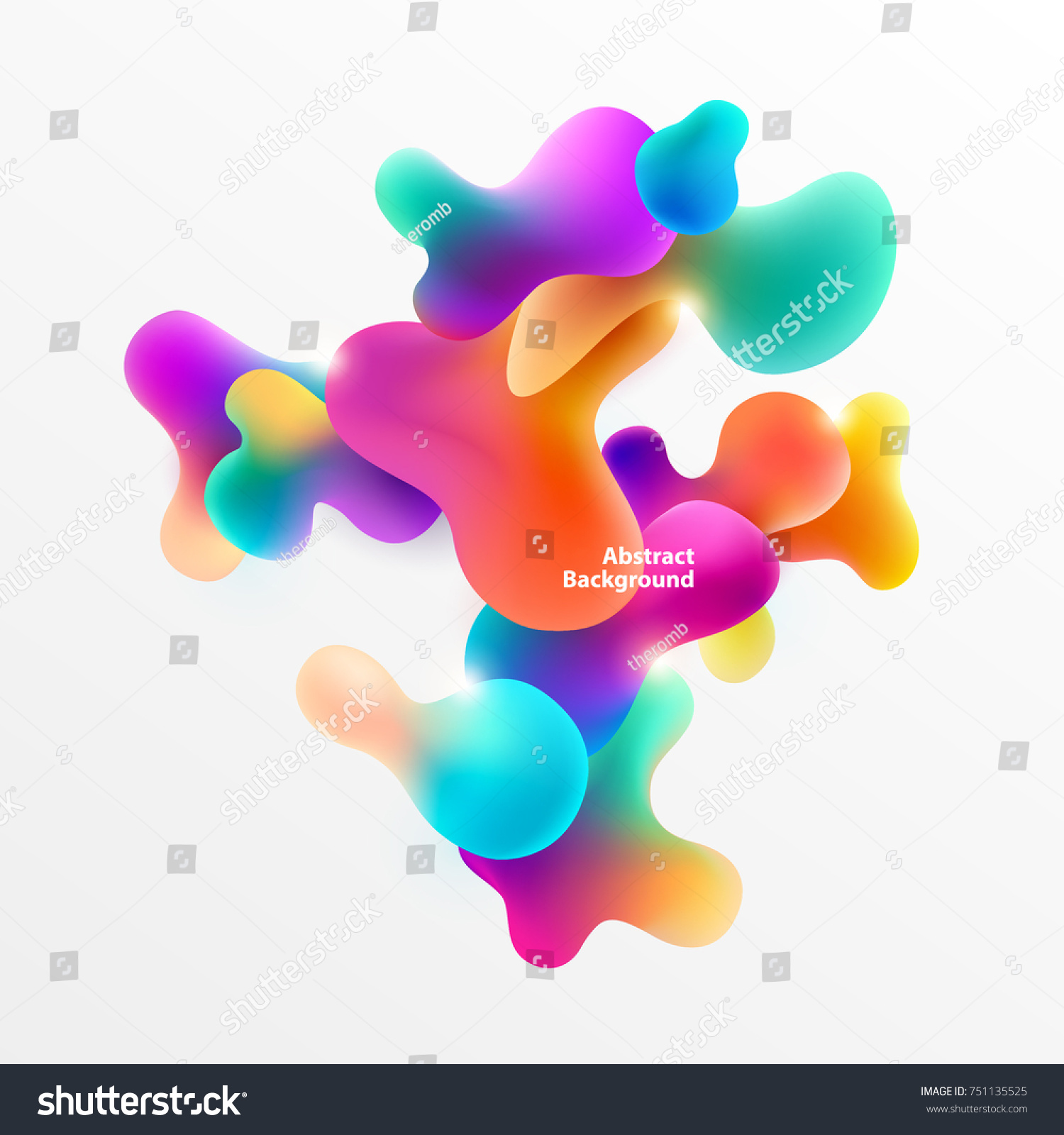 Plastic colorful shapes. Abstract background #751135525