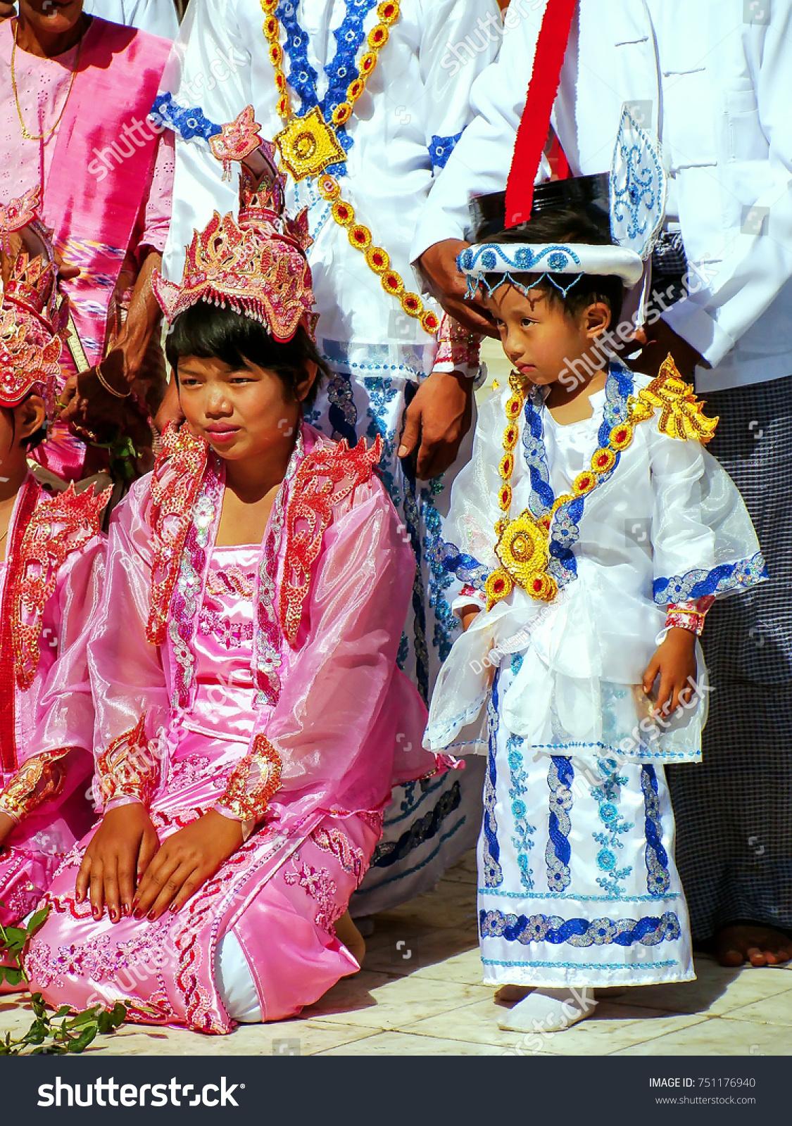 Mandalay Myanmar December 29 Unidentified People Stock Photo