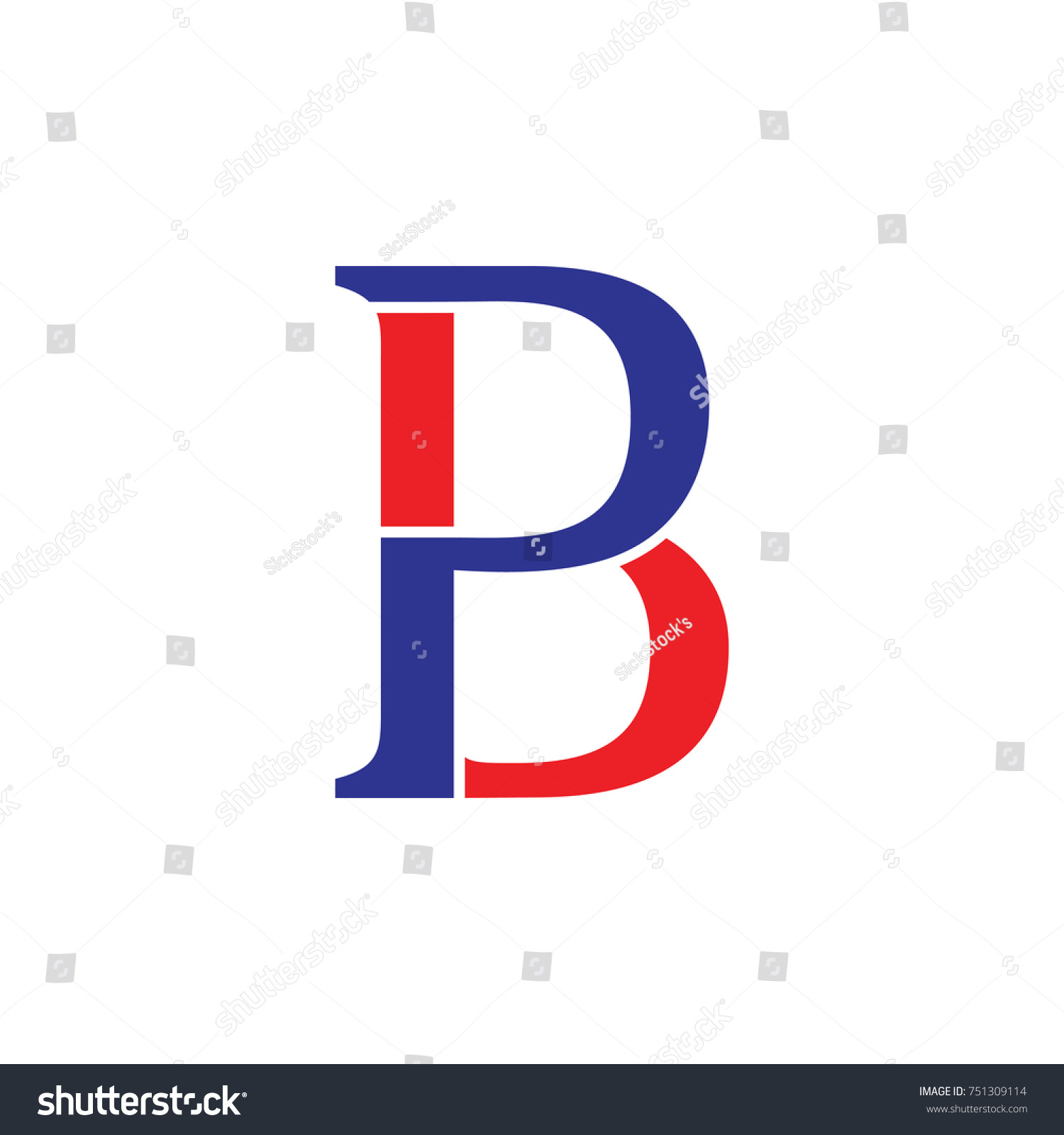 Letter Pb Linked Unity Symbol Logo Stock Vector Royalty Free
