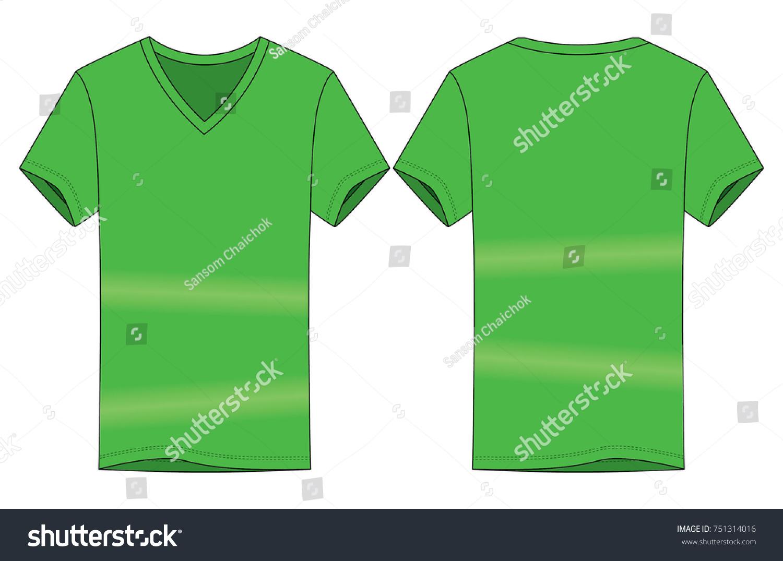 vneck tshirt template
