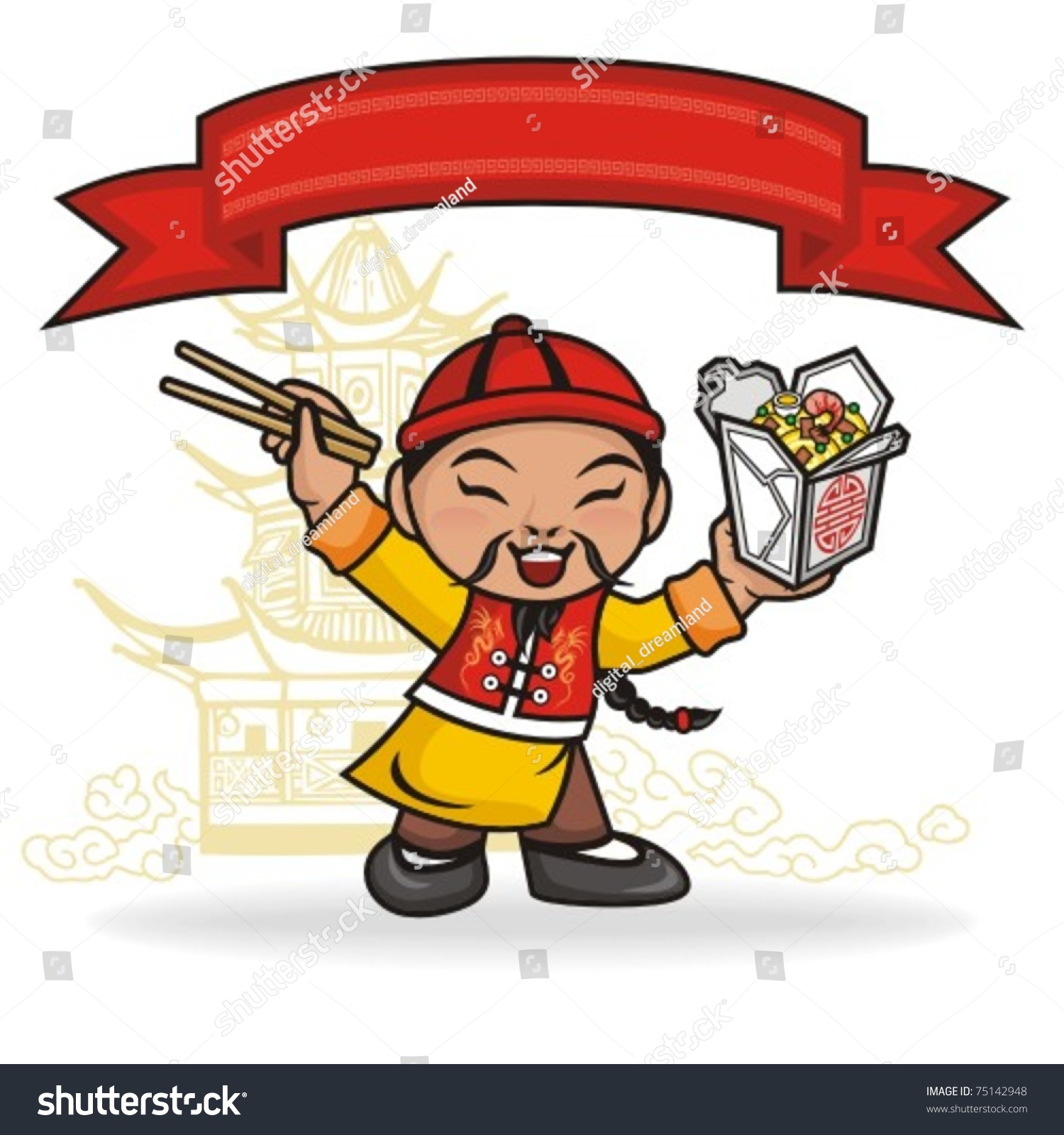 Chinese Foods Cartoons and Comics - funny pictures from CartoonStock