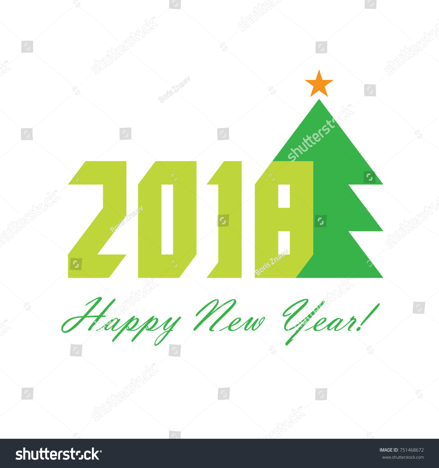 Happy new year 2018 greeting card stock vector 2018 751468672 happy new year 2018 greeting card christmas vector illustration m4hsunfo