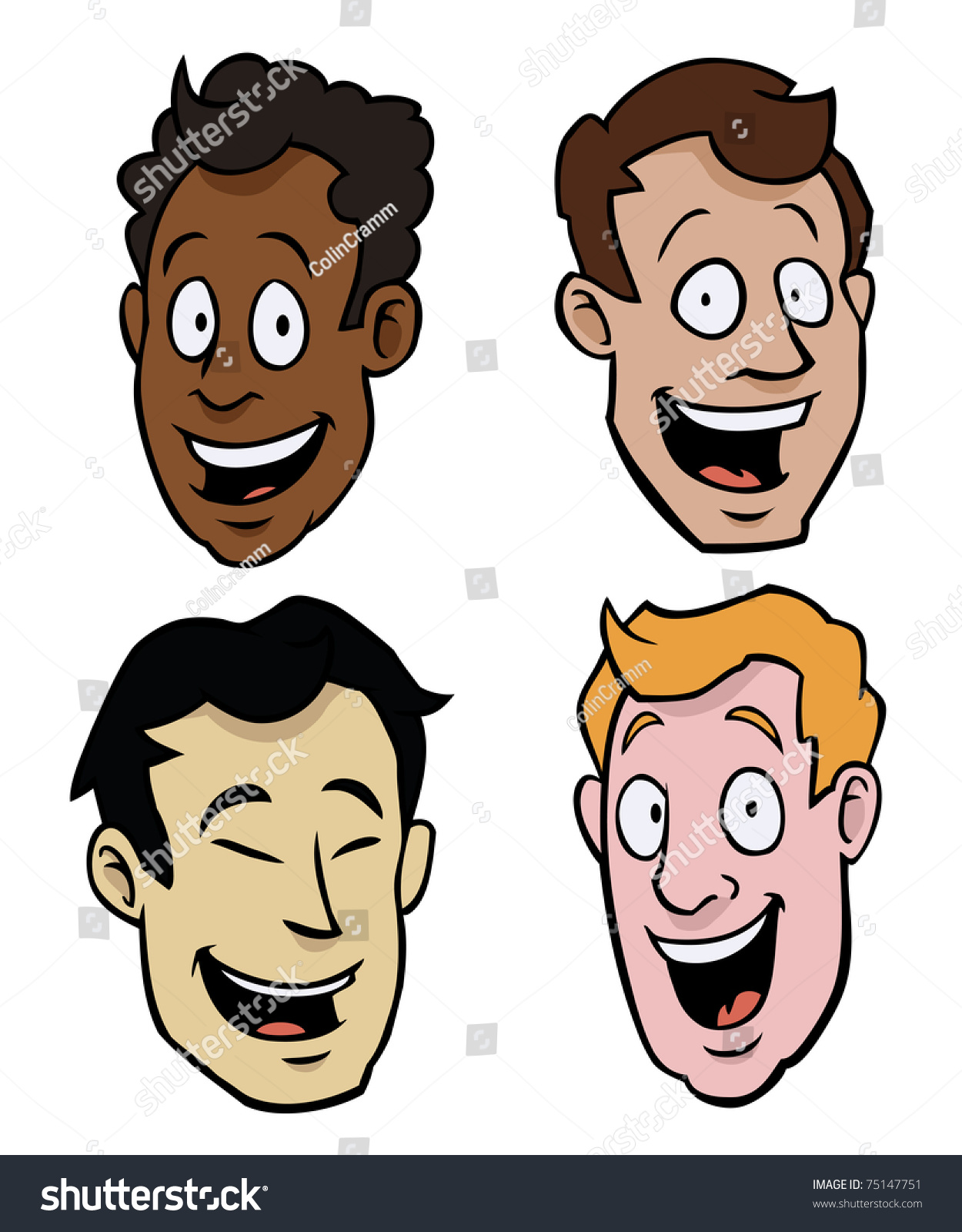 Different Races Face