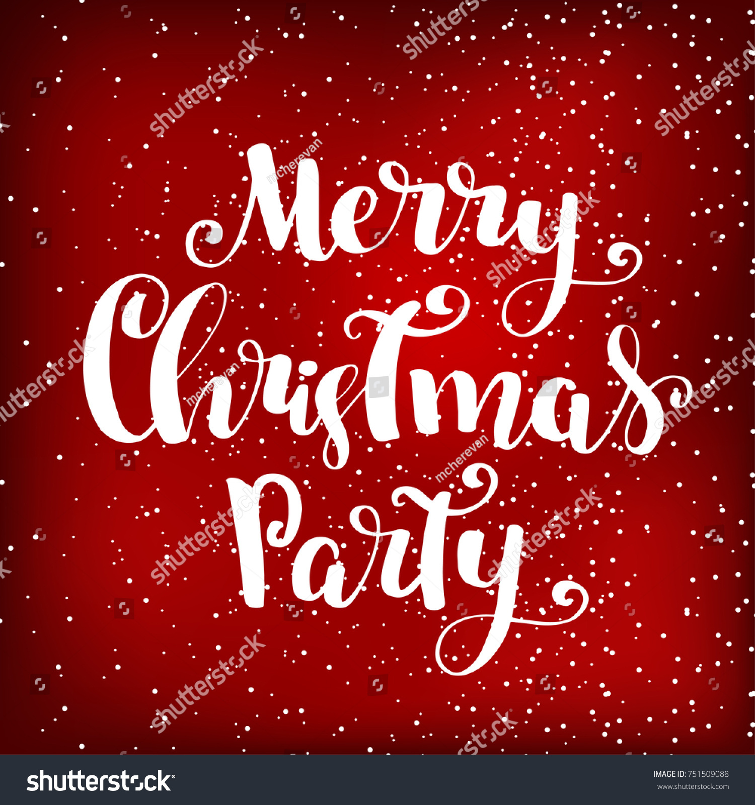 Christmas Party Invitation Design Template Merry Stock Vector ...