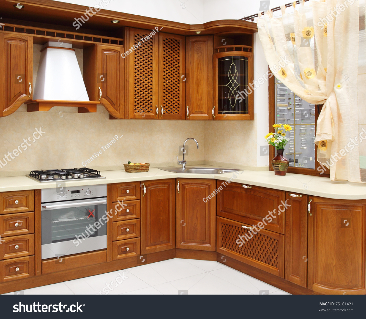 The New Kitchen Room, Modern Design Stock Photo 75161431
