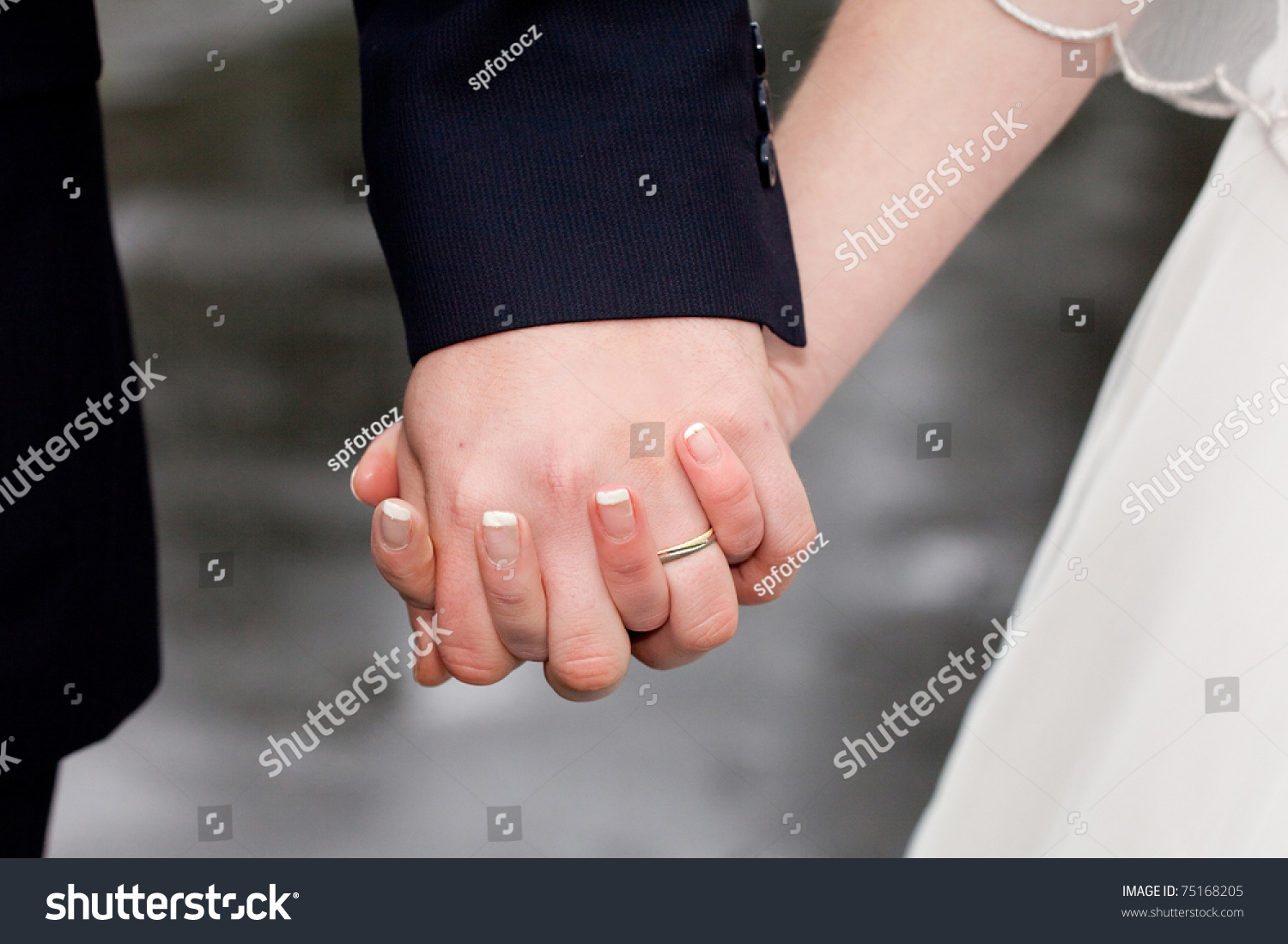Wedding Details Closeup Holding Mans Womans Stock Photo (Download ...