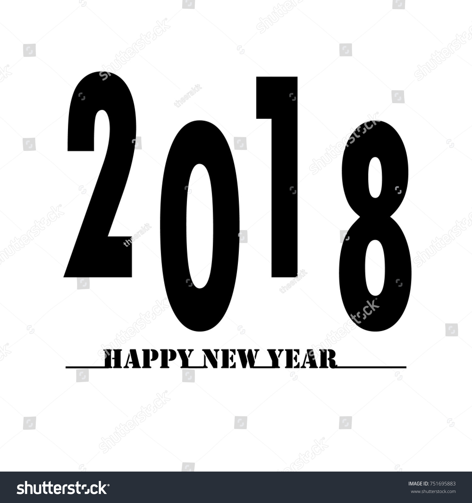 happy new year 2018 text on white background happy new year 2018 sign