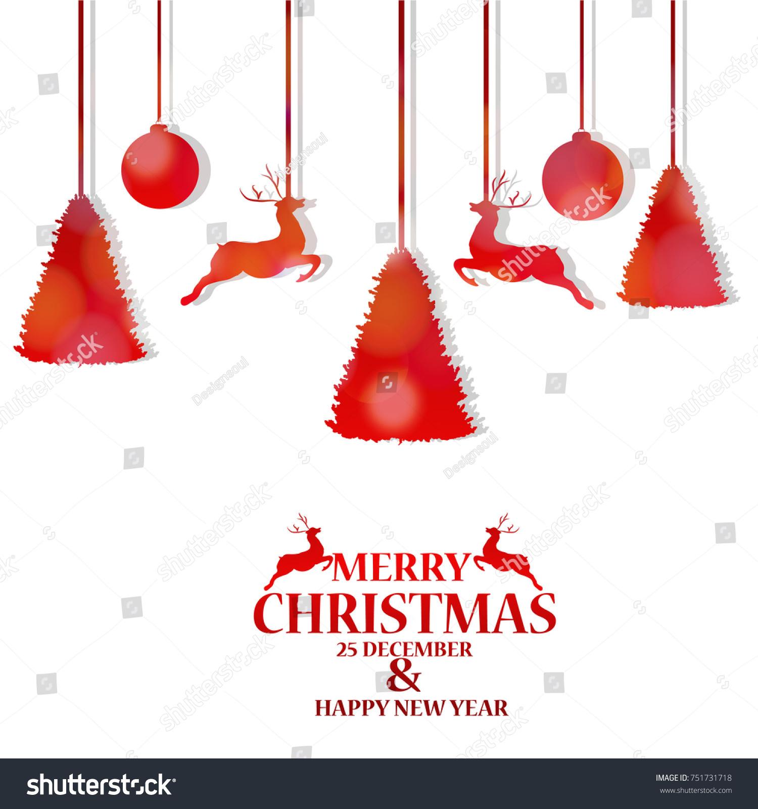 Merry Christmas Christmas Celebrates Birth Jesus Stock Vector ...