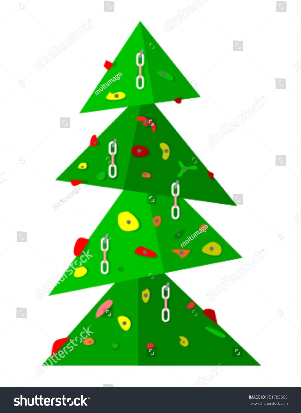 Christmas Tree Form Green Rock Climbing Stock Vector 751785565 ...