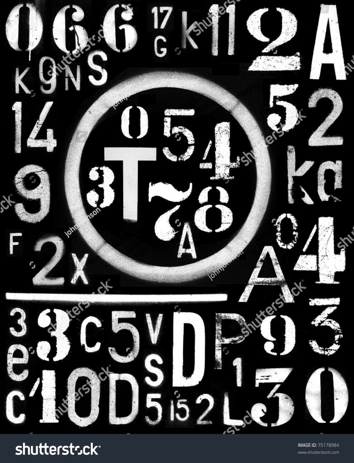 Spraypaint Industrial Font Number Alpha Template Stock Photo ...