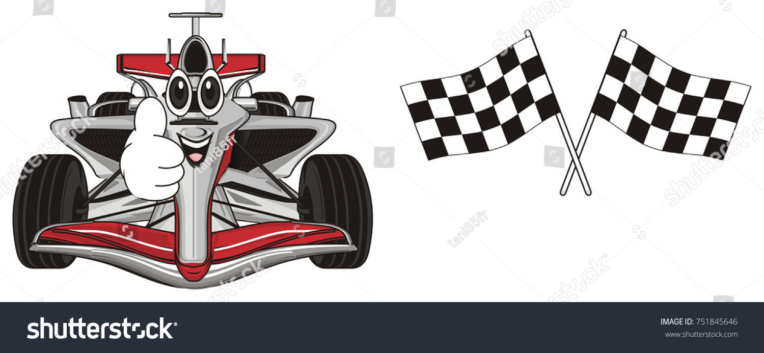 Royalty Free Stock Illustration Of Funny Face Red Car Show Gesture - Car show flags