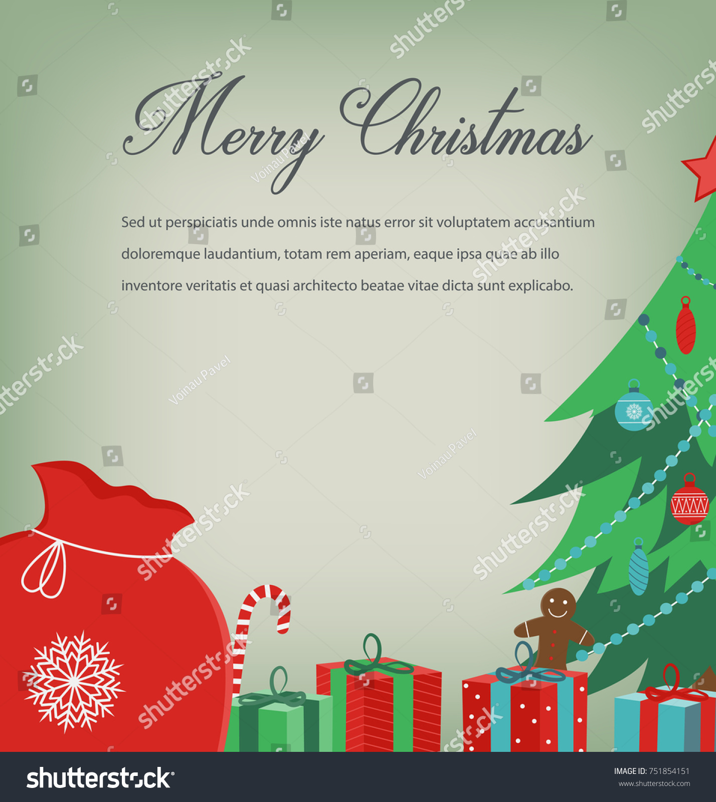 Christmas Greeting Card Merry Christmas Wishes Stock Photo Photo