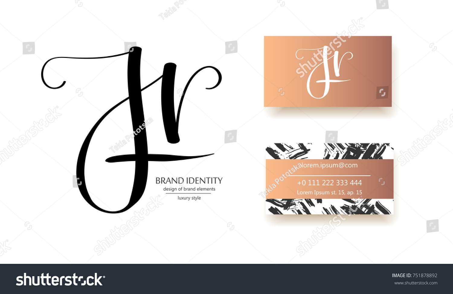 J H R Letters Combination Logo Stock Photo (Photo, Vector ...