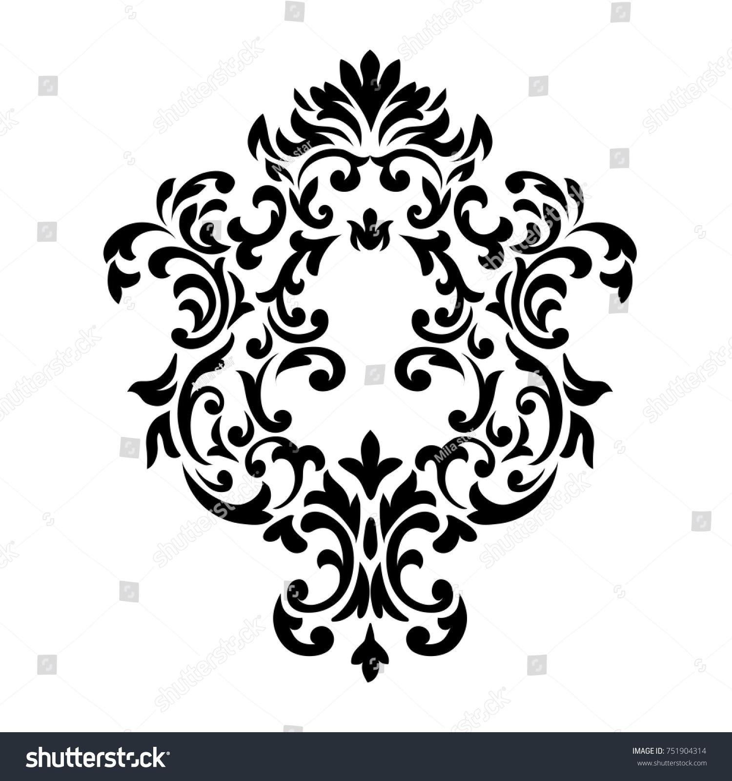 Vector Victorian Style Ornate Element Design Stock Vector 751904314 ...