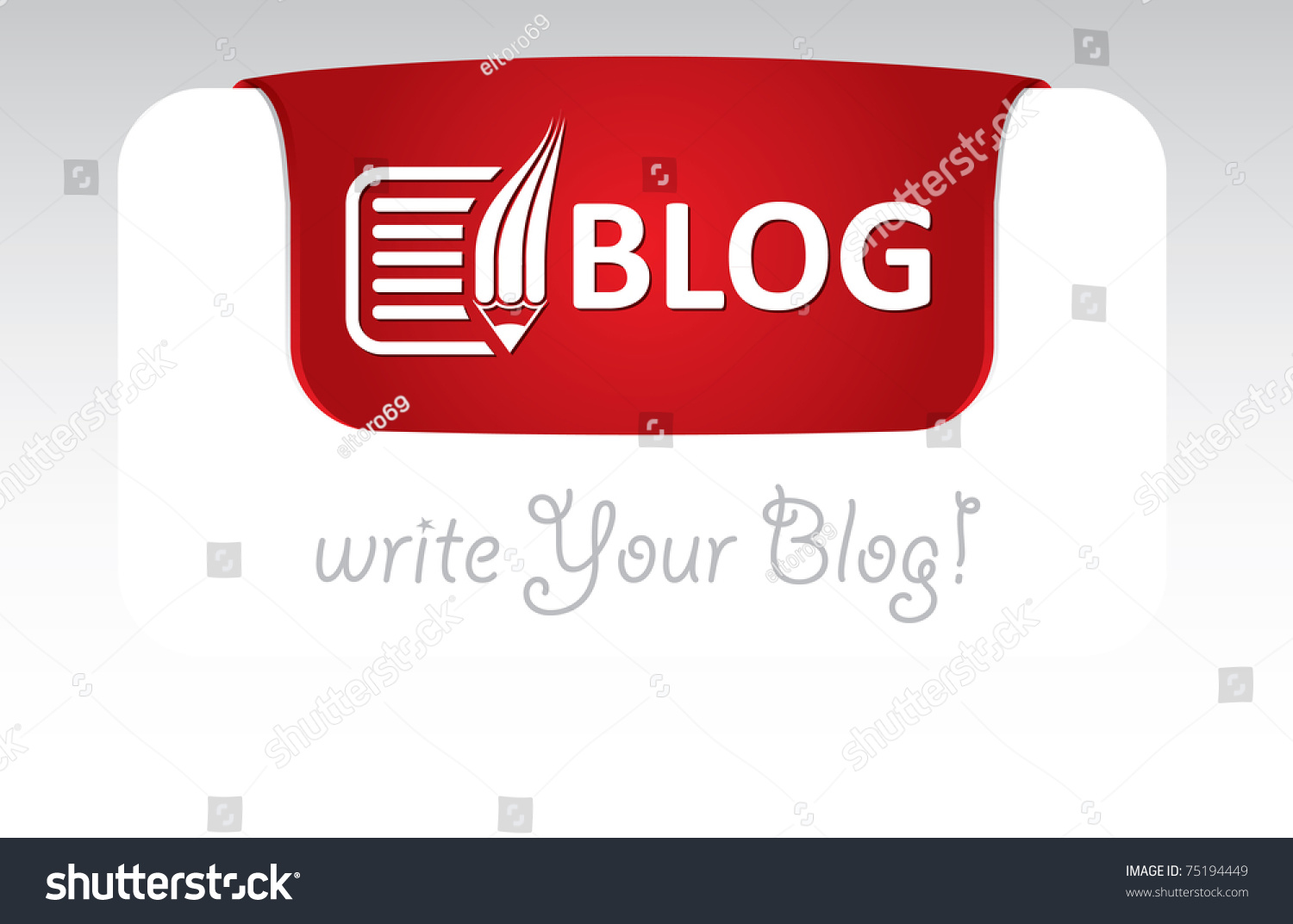 Blog Header Template Text Icon Stock Vector 75194449 - Shutterstock