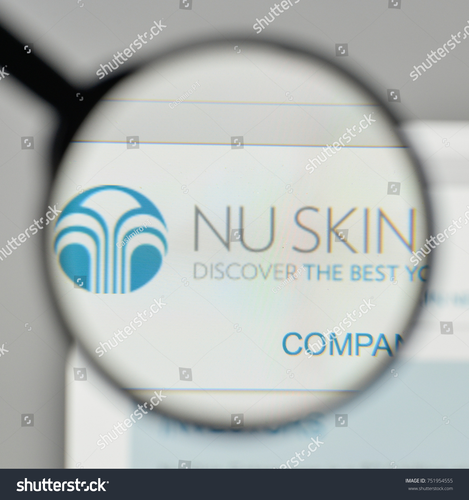 Milan italy november 1 2017 nu stock photo 751954555 shutterstock milan italy november 1 2017 nu skin enterprises logo on the website buycottarizona Gallery