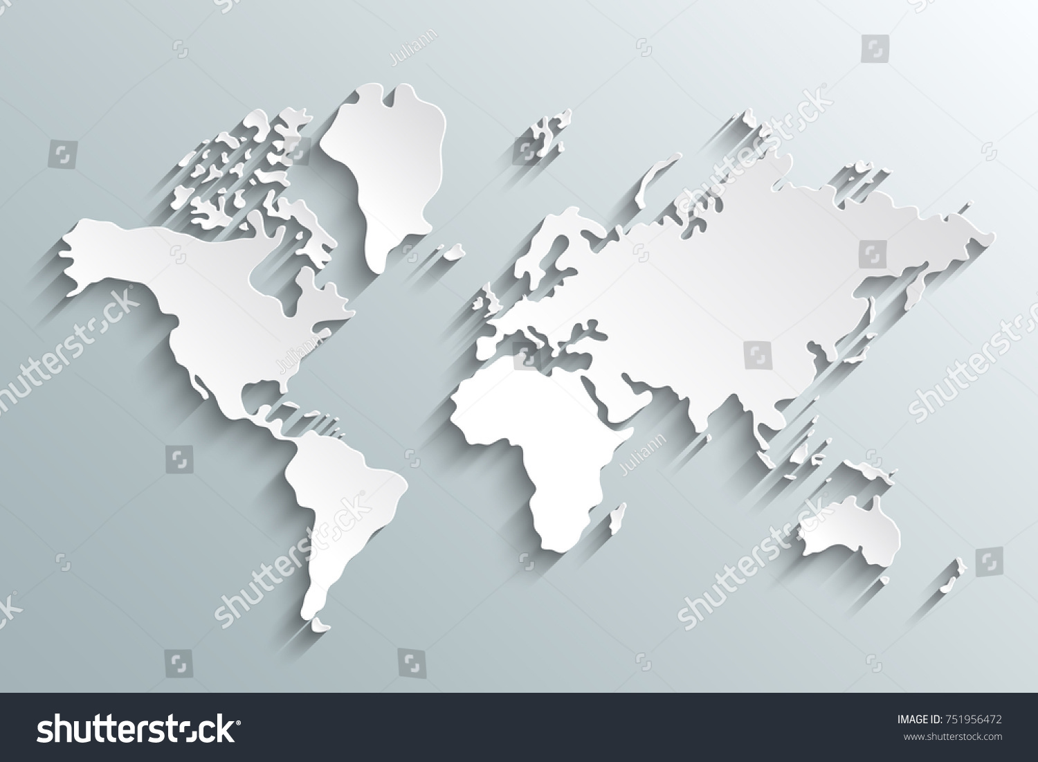 World map paper political map world vectores en stock 751956472 world map paper political map of the world paper world map on a grey gumiabroncs Gallery