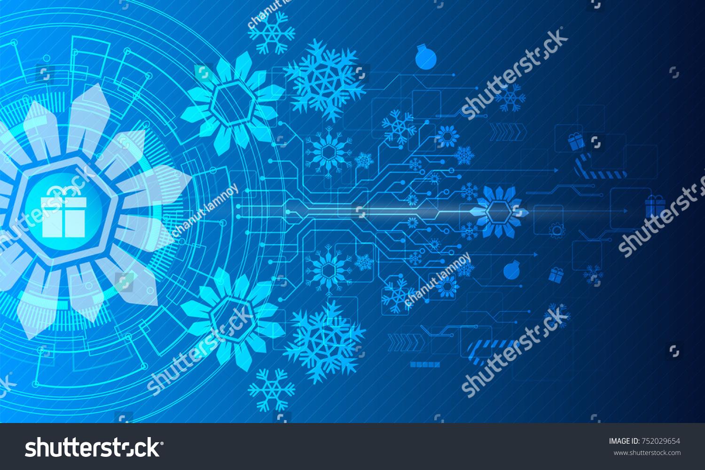 Merry Christmas Vector Illustration White Gear Stock Vector (Royalty ...
