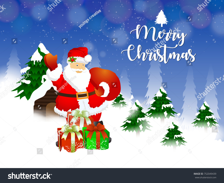 Merry Christmas Christians Celebrate Jesus Birthday Stock Vector ...