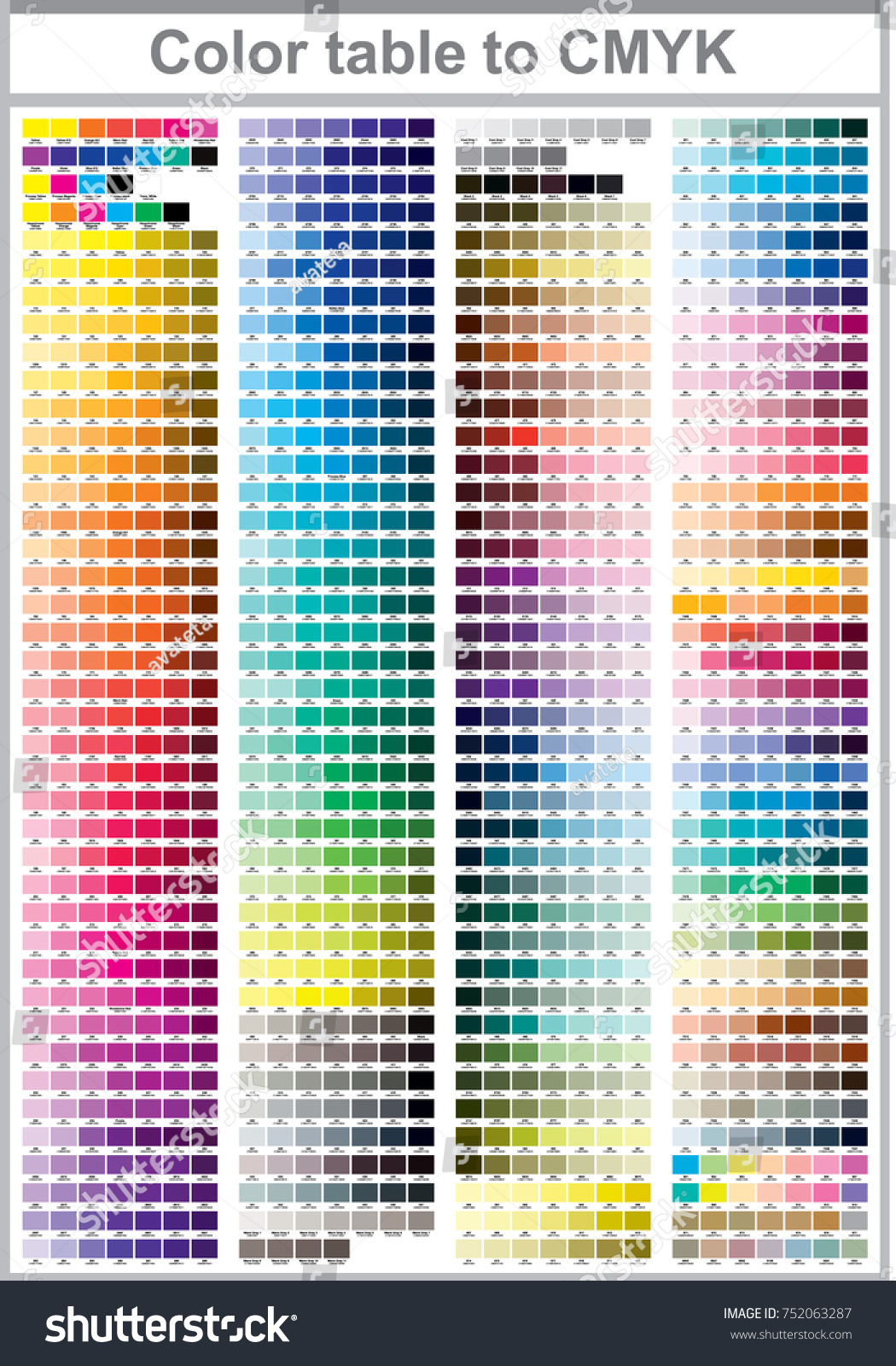 Color Print Test Page Illustration CMYK Stock Vector 752063287 ...