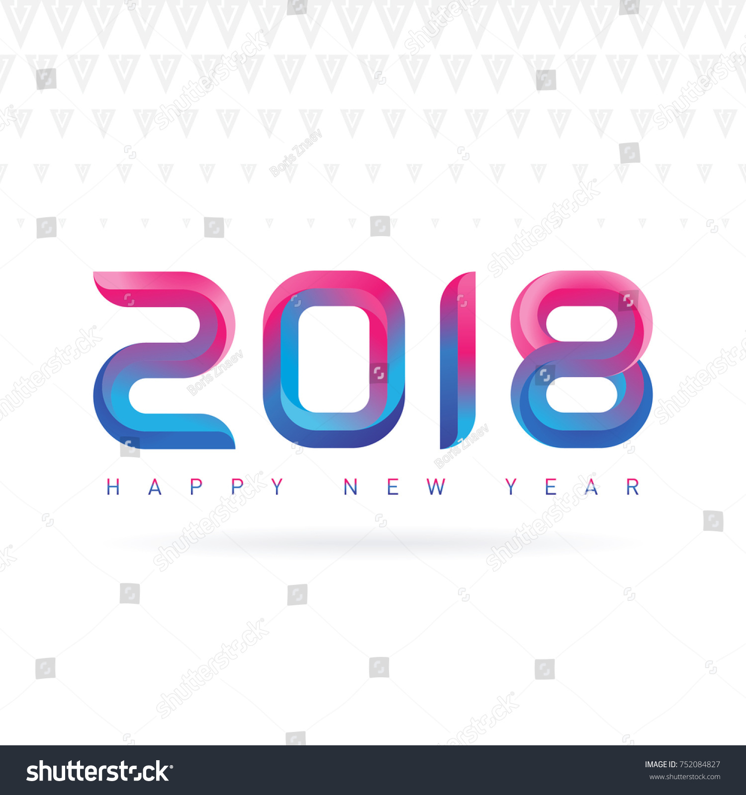 Happy New Year Greeting Card Modern Stock Vector (Royalty Free ...