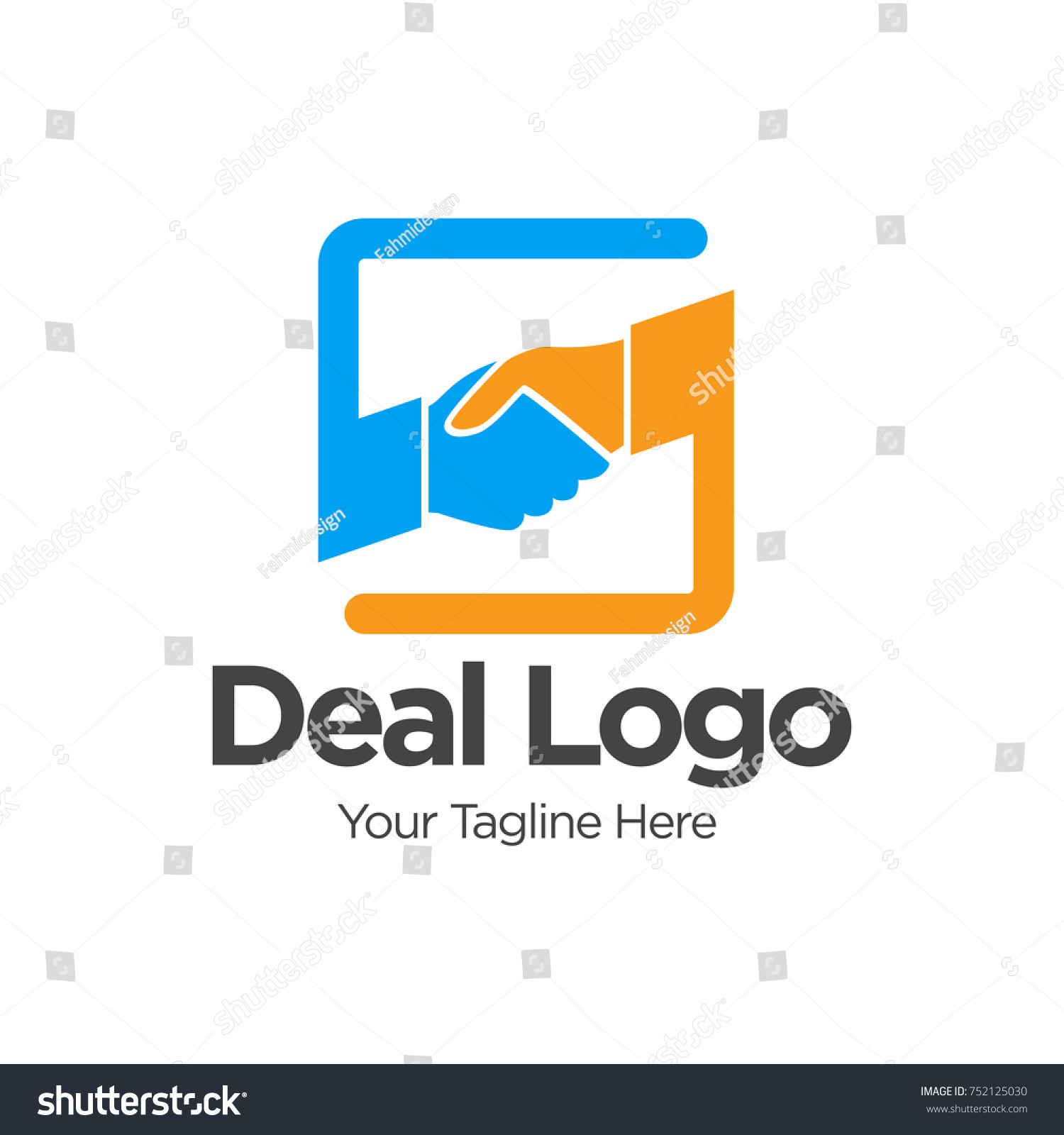 Deal Job Logo Template Design Logo Stock-Vektorgrafik 752125030 ...