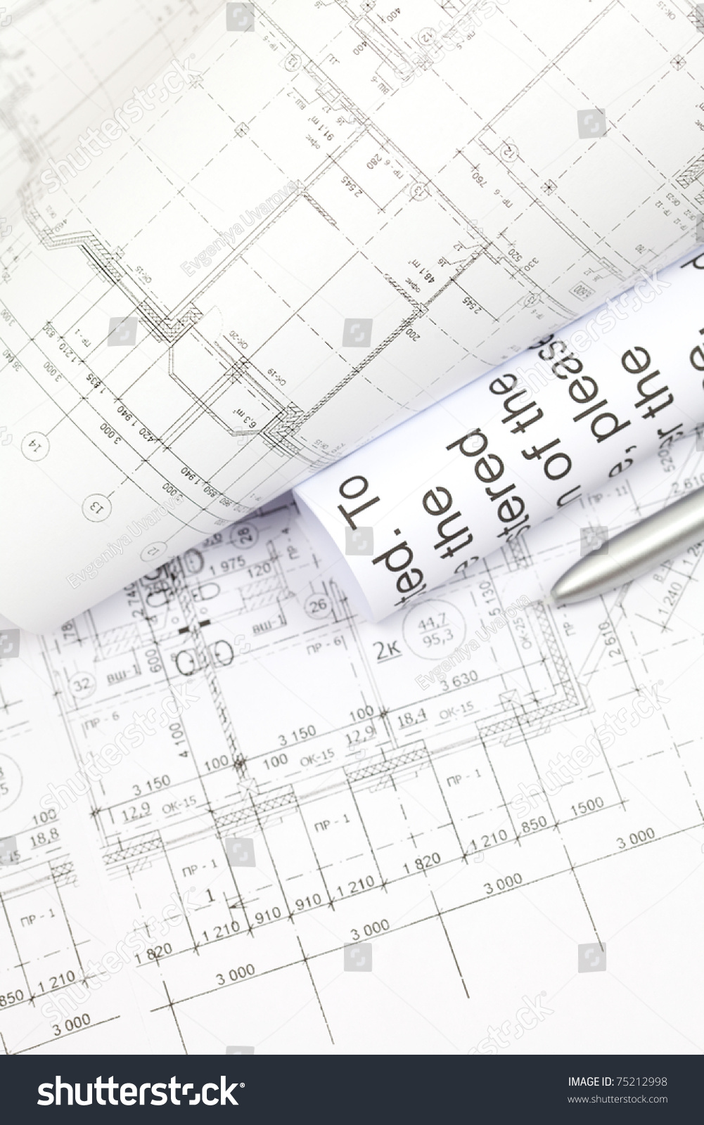 Engineering Diagram Blueprint Paper Drafting Project Sketch Architectural Drawings And Architecturalselective Focus Ez Canvas
