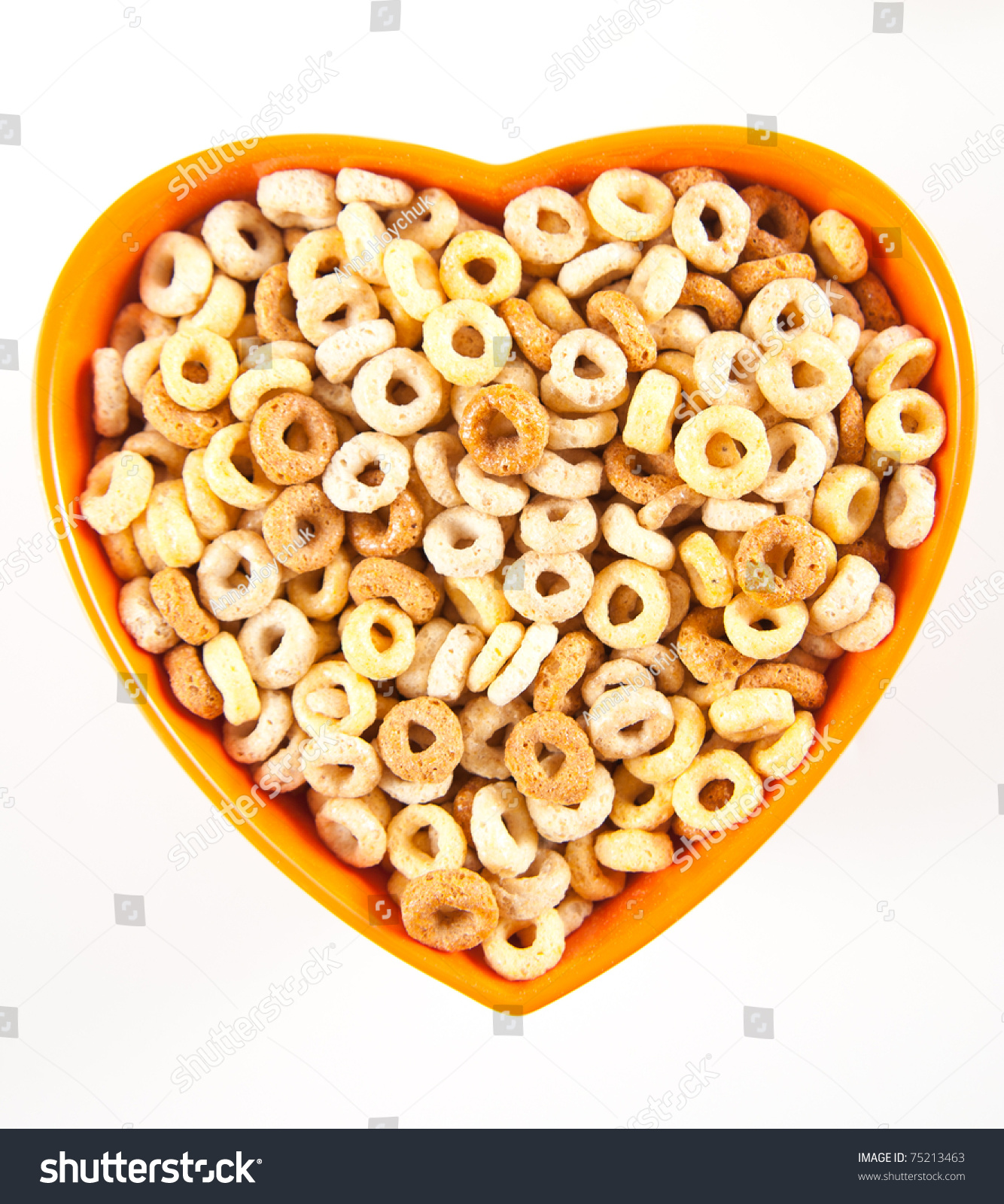 Multigrain Cheerios Cereal Shaped Into Heart Stock Photo Edit Now On The Go Pink Cheerio