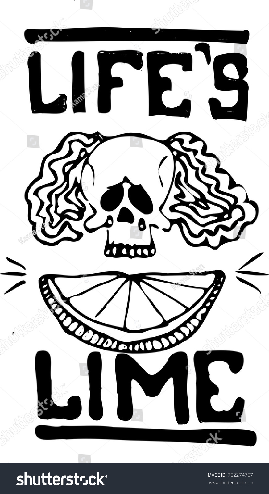 Skull lime text lifes lime black stock vector 752274757 shutterstock skull and lime with text lifes lime buycottarizona Images