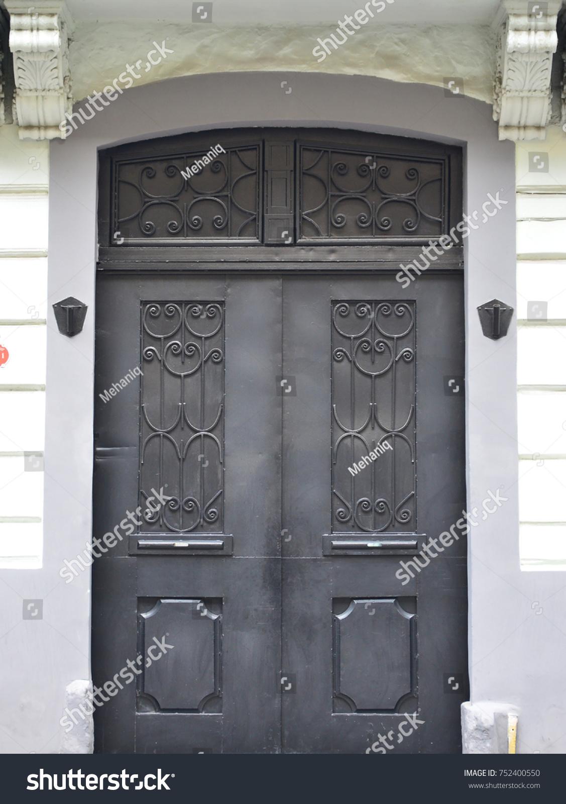 metal door texture. The Texture Of Modern Metal Door Is Black. Outdoor View S