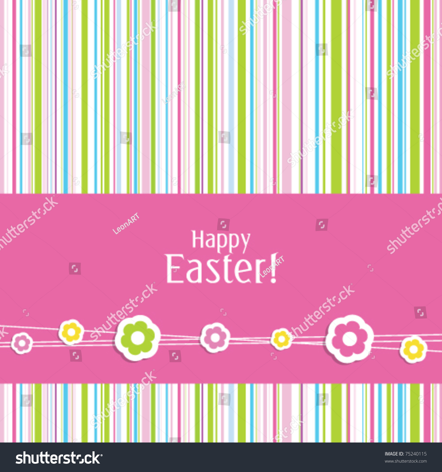 Cute Easter Greeting Card Stylish Colorful Stock Vector Royalty