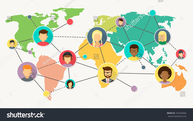 Network world map flat design vector vectores en stock 752434066 network world map flat design vector vectores en stock 752434066 shutterstock gumiabroncs Gallery