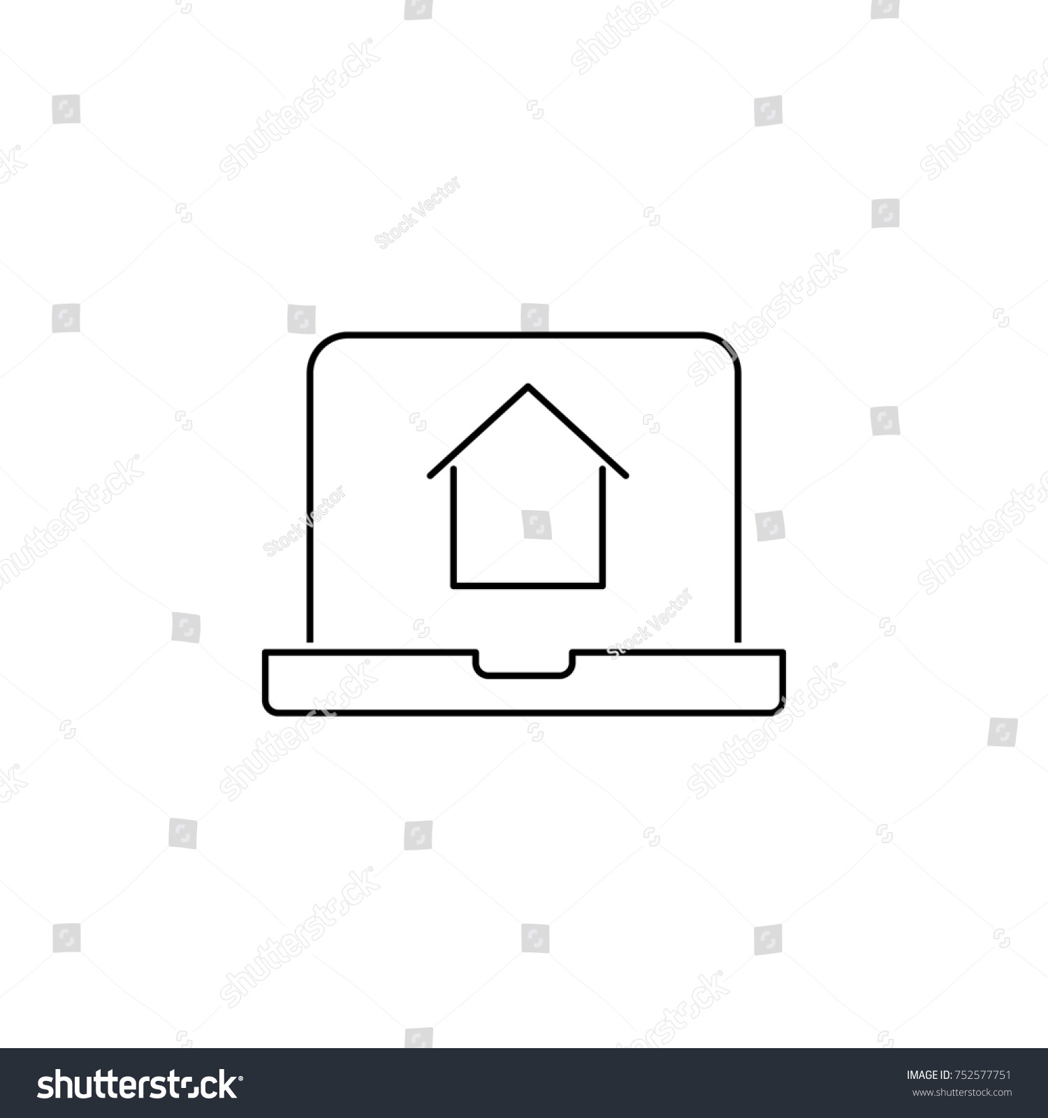 Online House Shopping Icon Real Estate Stock Illustration 752577751
